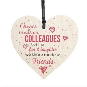 Wooden Heart Colleague Gift Ornament